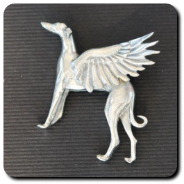 Angel Hound Brooch