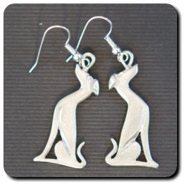 Sitting Greyhound Earrings