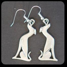Sitting Greyhound Earrings
