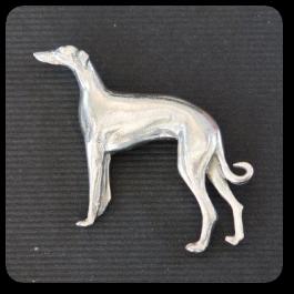Standing Greyhound Brooch