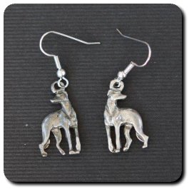 Standing Greyhound Earrings