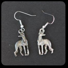 Standing Greyhound Earrings