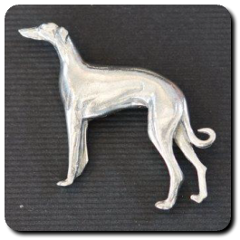 Standing Greyhound Pendant